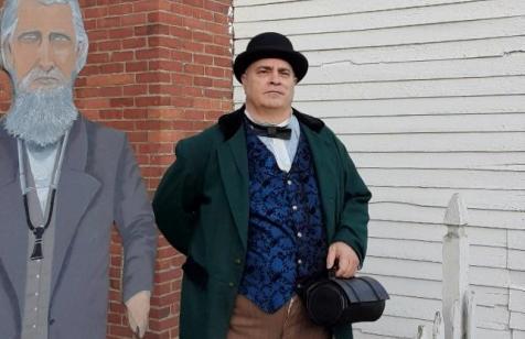 Dr. J. J. Polk (portrayed by Bryan Bush, park manager, Perryville Battlefield State Historic Site