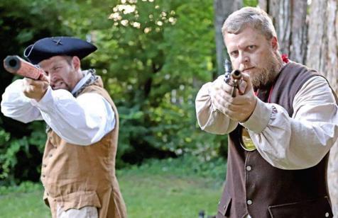 James Harrod and George Rogers Clark defend the frontier