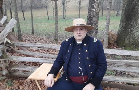 Brigadier General Daniel F. Griffin, 38th Indiana Infantry, portrayed by park manager Bryan Bush