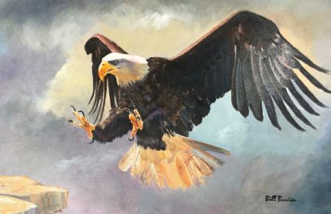 Bald Eagle by artist Bill Burton